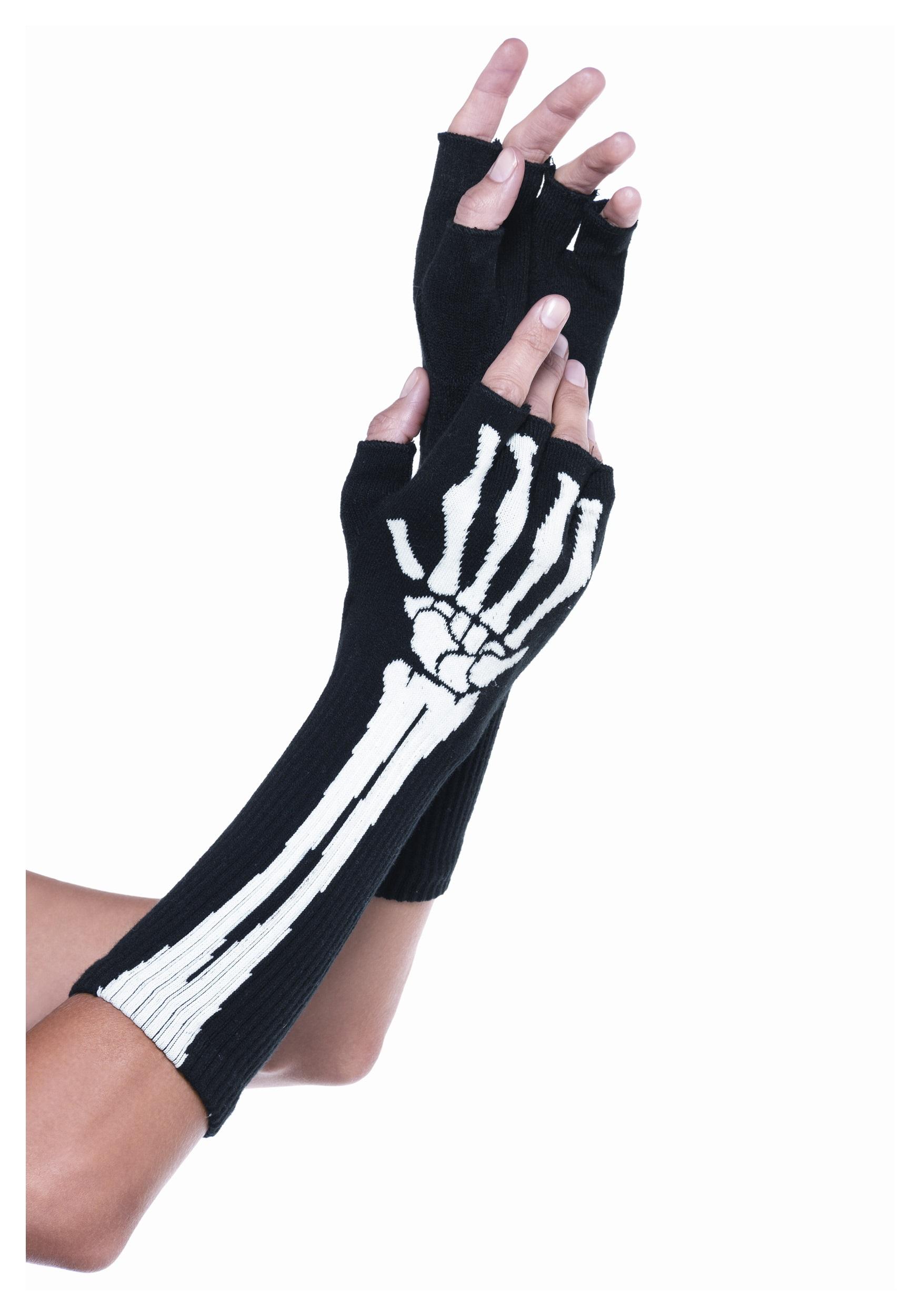 Fingerless gloves for guitarists - Skeleton Fingerless Gloves