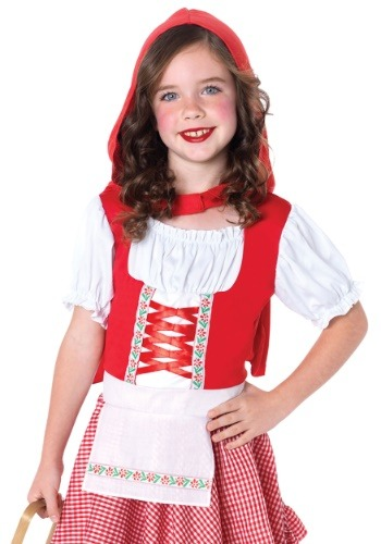 Girls Lil Miss Red Riding Hood Costume