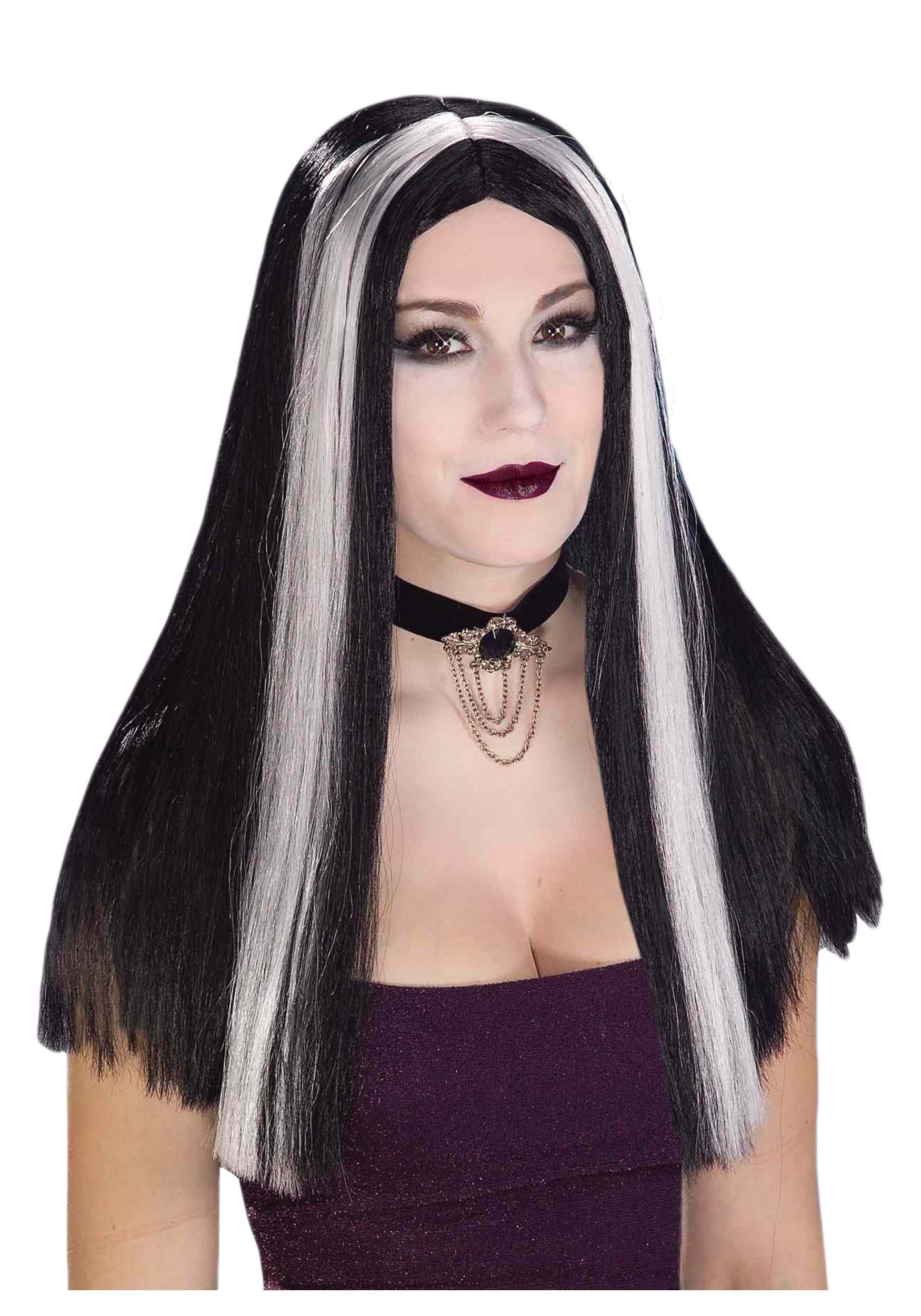 halloween wigs black and white - wig store