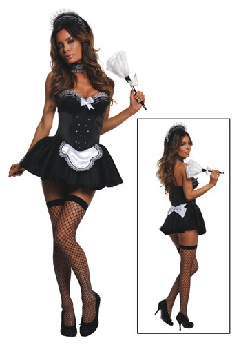 Click Here to buy Womens Seductive Maid Costume from HalloweenCostumes, CDN Funds