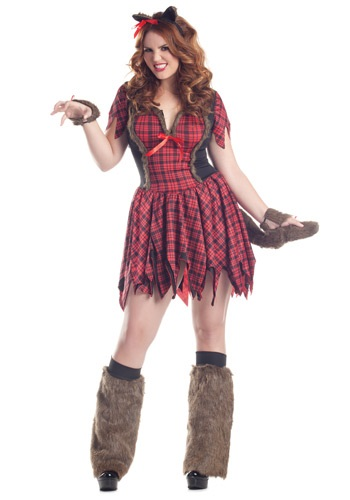 Click Here to buy Plus Size Sexy Werewolf Costume from HalloweenCostumes, USA Funds & Shipping