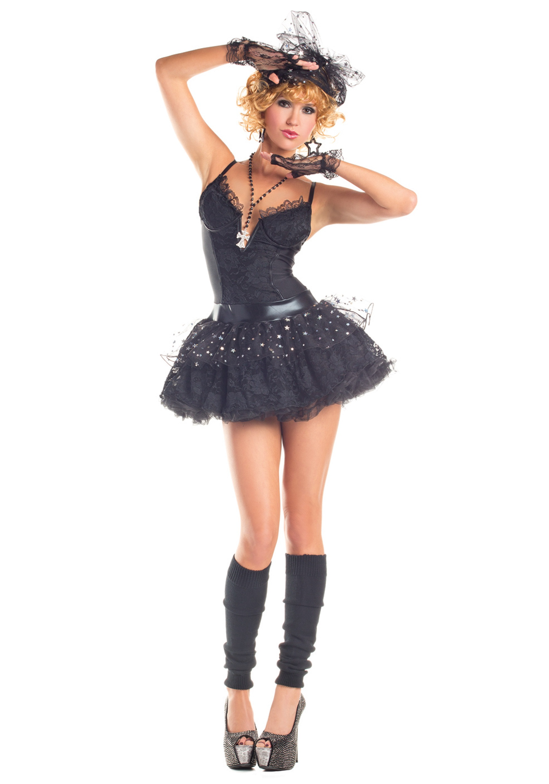 Womenu0027s Material Pop Star Costume  sc 1 st  Halloween Costumes & Celebrity Costumes - Madonna Michael Jackson Lady Gaga Costume