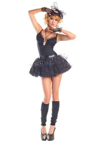 [Women's Material Pop Star Costume] (Womens Material Pop Star Costumes)