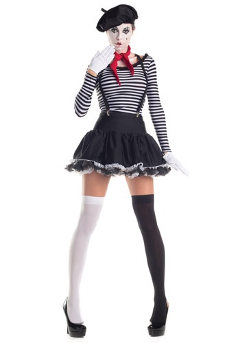 Click Here to buy Mesmerizing Mime Costume from HalloweenCostumes, CDN Funds