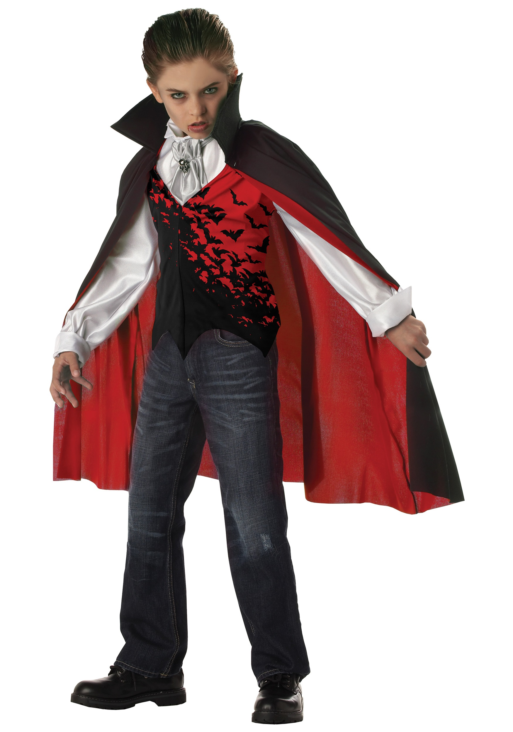 Halloween Vampire Costume Kids.Kids Dark Vampire Costume