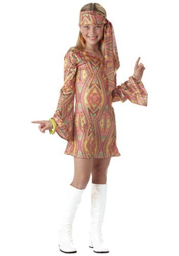 Click Here to buy Kids Disco Girl Costume from HalloweenCostumes, USA Funds & Shipping