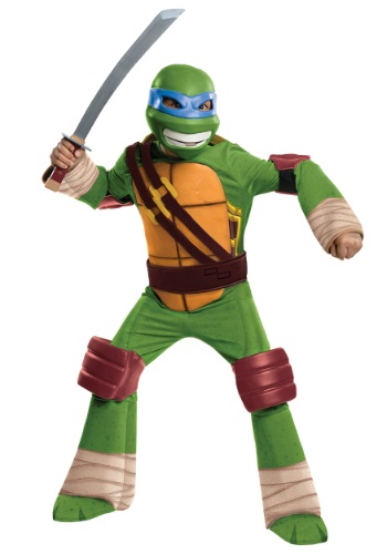 Click Here to buy Deluxe Kids Leonardo Costume from HalloweenCostumes, USA Funds & Shipping