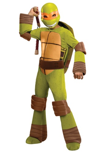 Click Here to buy Deluxe Kids Michelangelo Costume from HalloweenCostumes, USA Funds & Shipping
