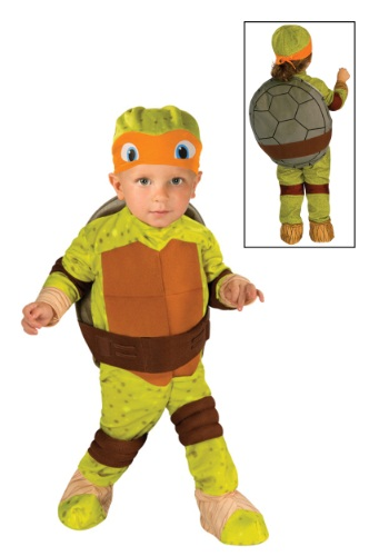 Click Here to buy Toddler TMNT Michelangelo Costume from HalloweenCostumes, USA Funds & Shipping