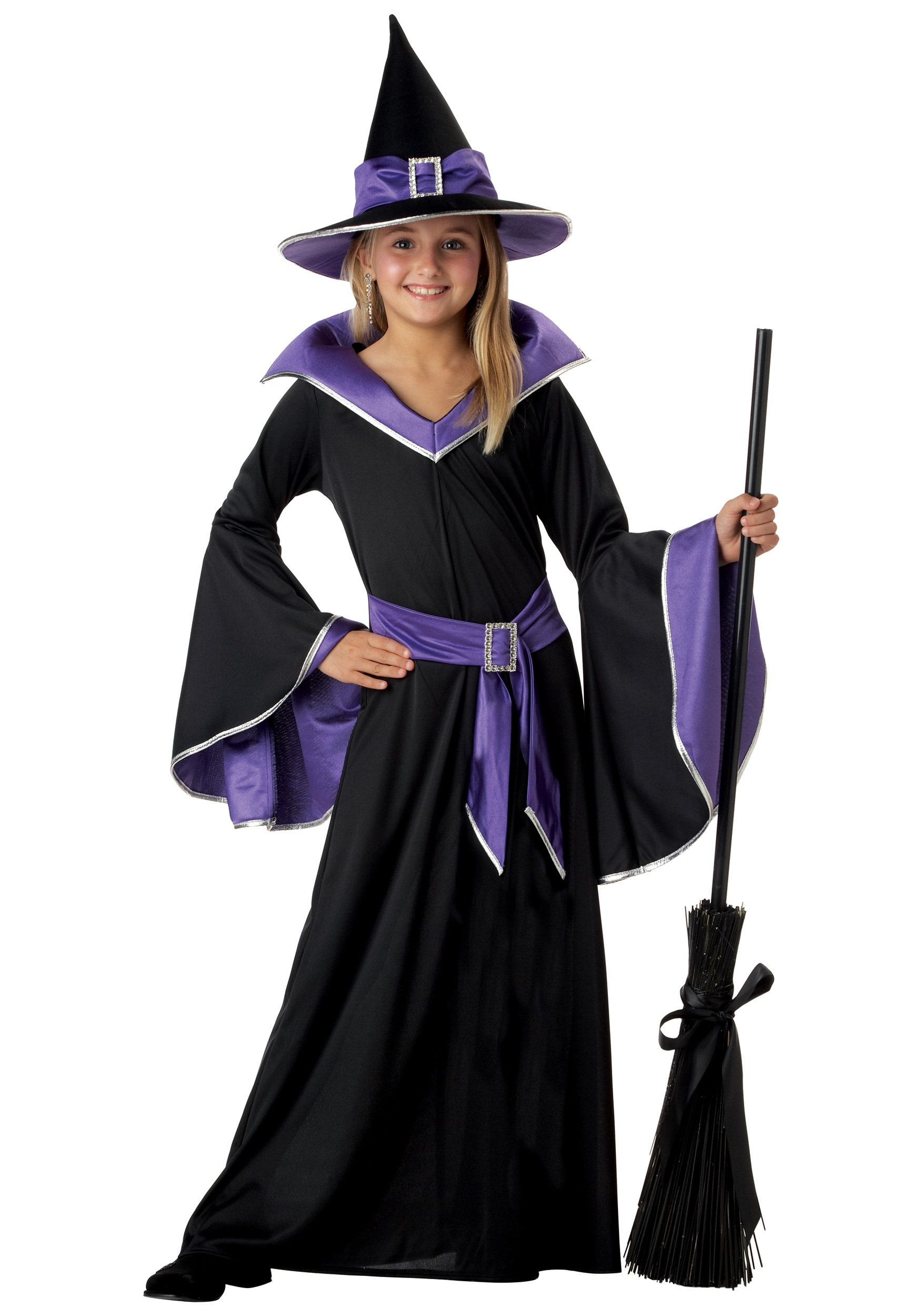 Child Glamour Witch Costume  sc 1 st  Halloween Costumes & Child Glamour Witch Costume - Kids Witch Halloween Costumes