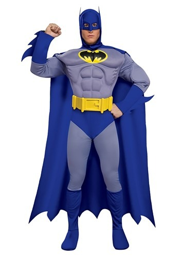 Mens Deluxe Muscle Chest Batman Costume