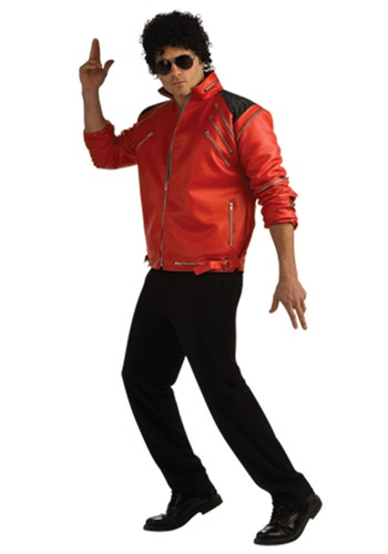 Adult Beat It Deluxe Red Zipper Jacket By: Rubies Costume Co. Inc for the 2015 Costume season.