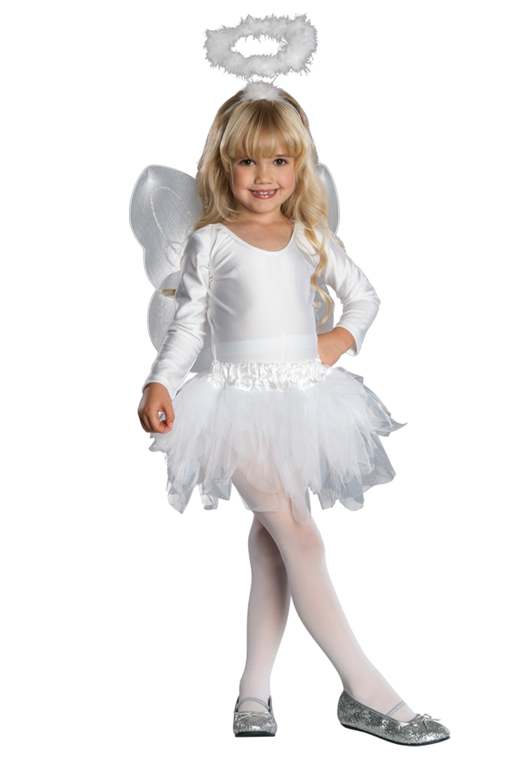 Toddler child angel costume - Disfraz de angelito para nina ...