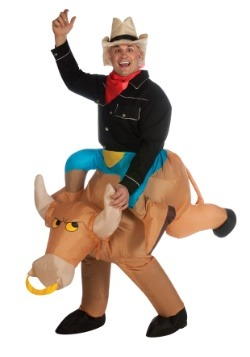 Inflatable Bull Rider Costume1