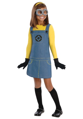 Click Here to buy Kids Girls Minion Costume from HalloweenCostumes, CDN Funds