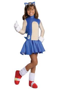 Child Sonic Girls Costume