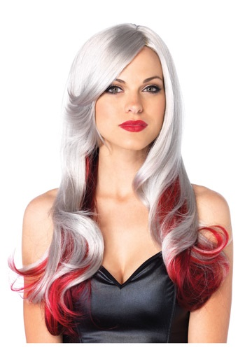 Red and Gray Two Toned Wig LE2611RD