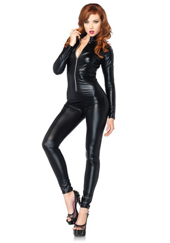 Click Here to buy Sexy Black Zipper Catsuit from HalloweenCostumes, CDN Funds