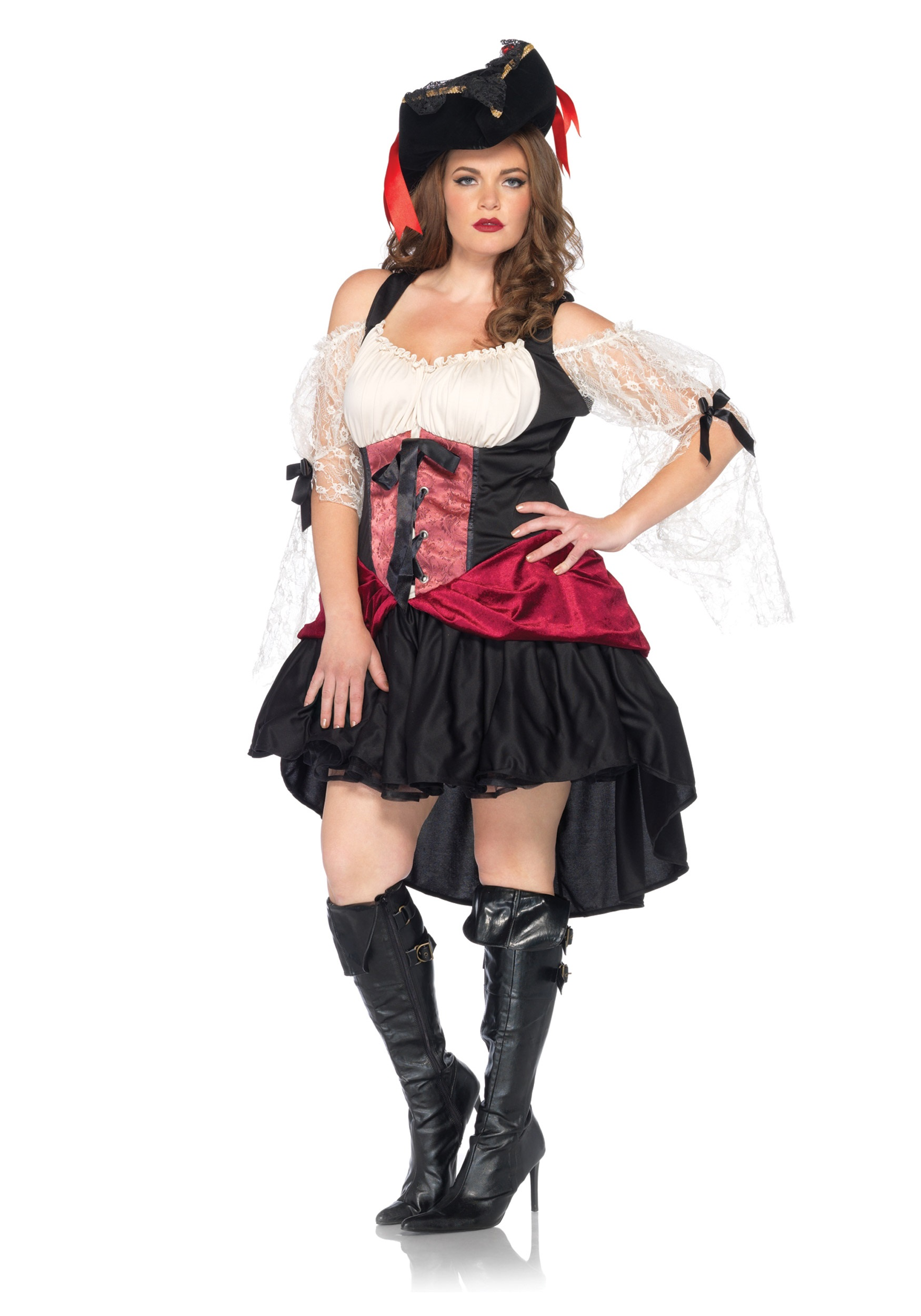 womens plus wicked wench costume - Pirate Halloween Costumes Women
