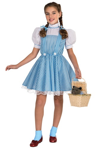 Click Here to buy Kids Deluxe Dorothy Costume from HalloweenCostumes, CDN Funds