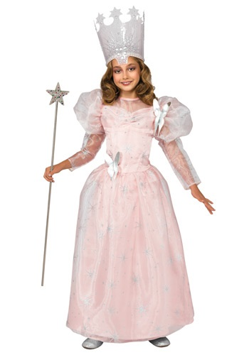 Click Here to buy Deluxe Kids Glinda the Good Witch Costume from HalloweenCostumes, CDN Funds