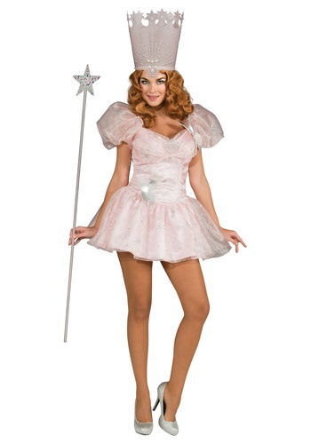 Click Here to buy Adult Sexy Glinda the Good Witch Costume from HalloweenCostumes, CDN Funds