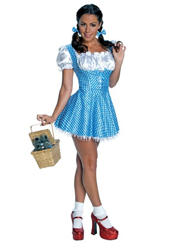 Click Here to buy Adult Sequin Dorothy Costume from HalloweenCostumes, CDN Funds