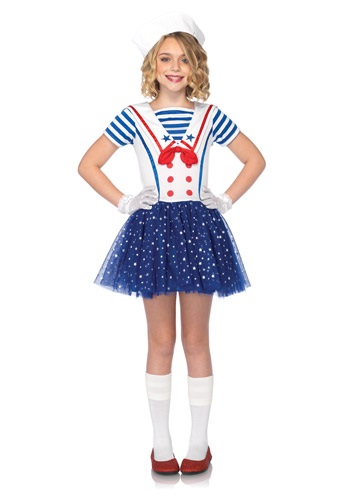 Click Here to buy Kids Sailor Sweetie Costume from HalloweenCostumes, USA Funds & Shipping