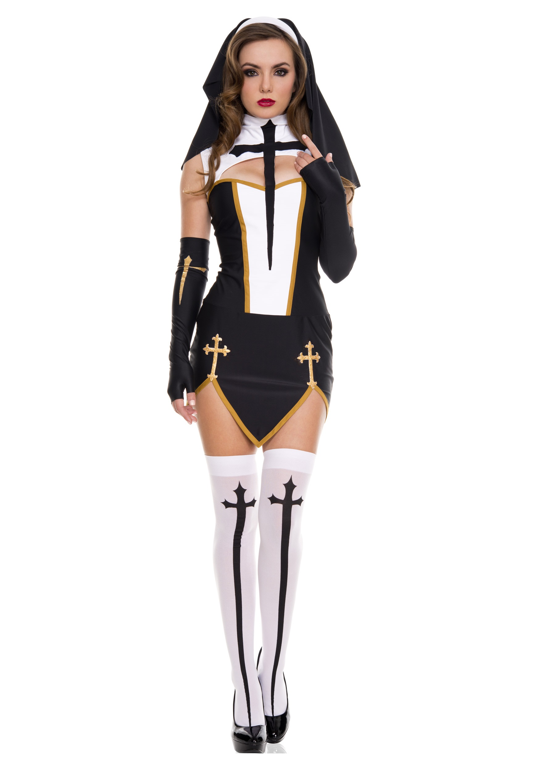 Costume Halloween Nun Sexy 80