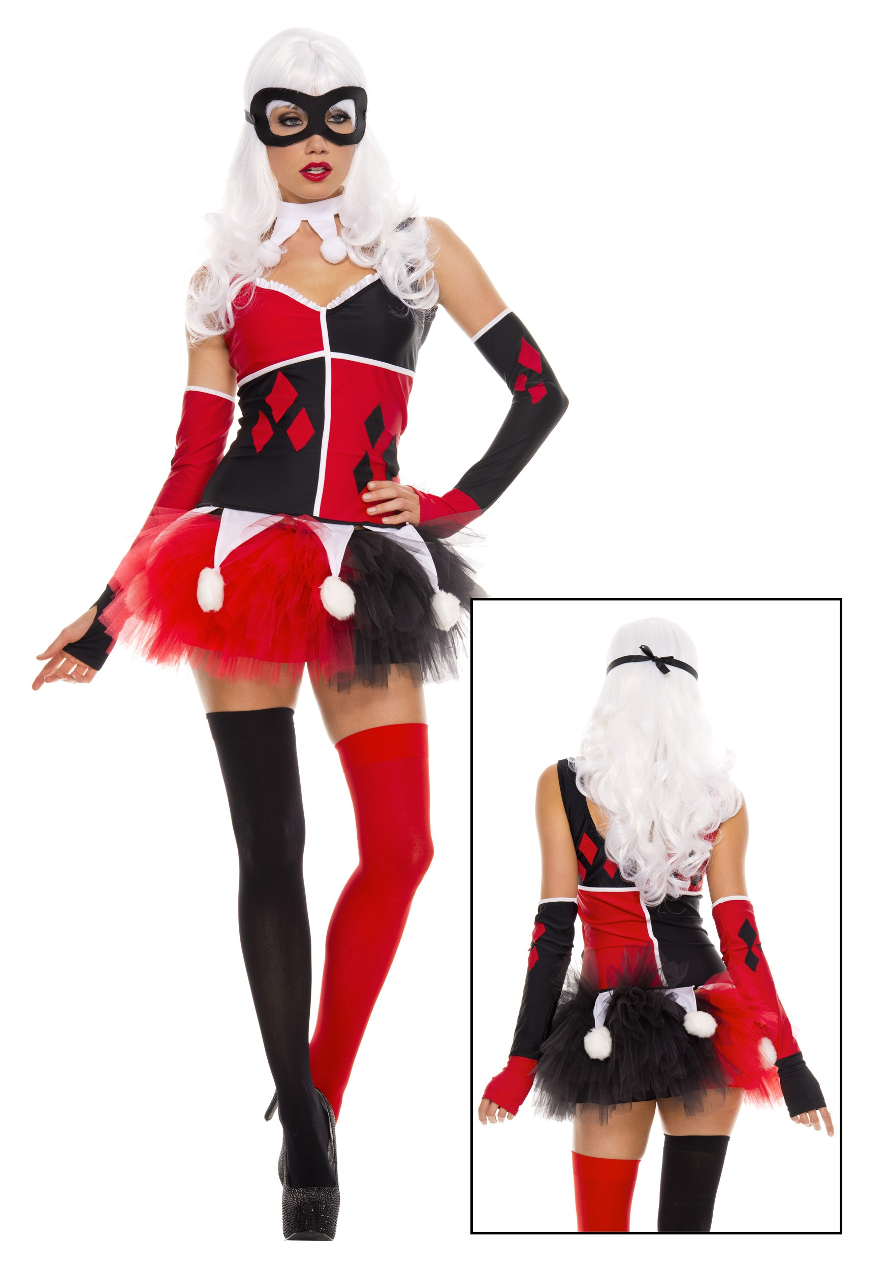 Womens Harley Jester Costume  sc 1 st  Halloween Costumes & Harley Quinn Costumes for Kids Woman