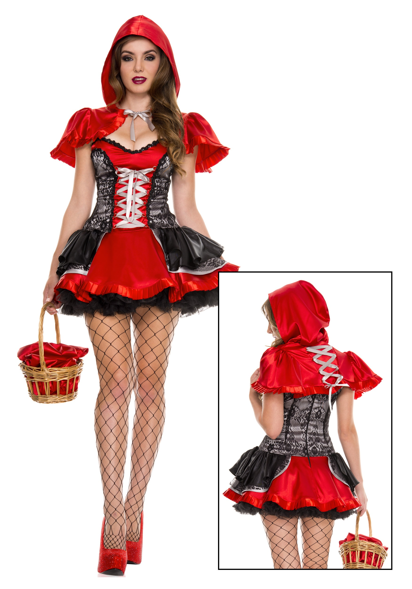 Womens Fiery Lil Red Costume-6305