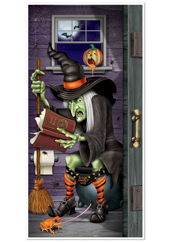 Witch Bathroom Door Cover By: Beistle for the 2015 Costume season.