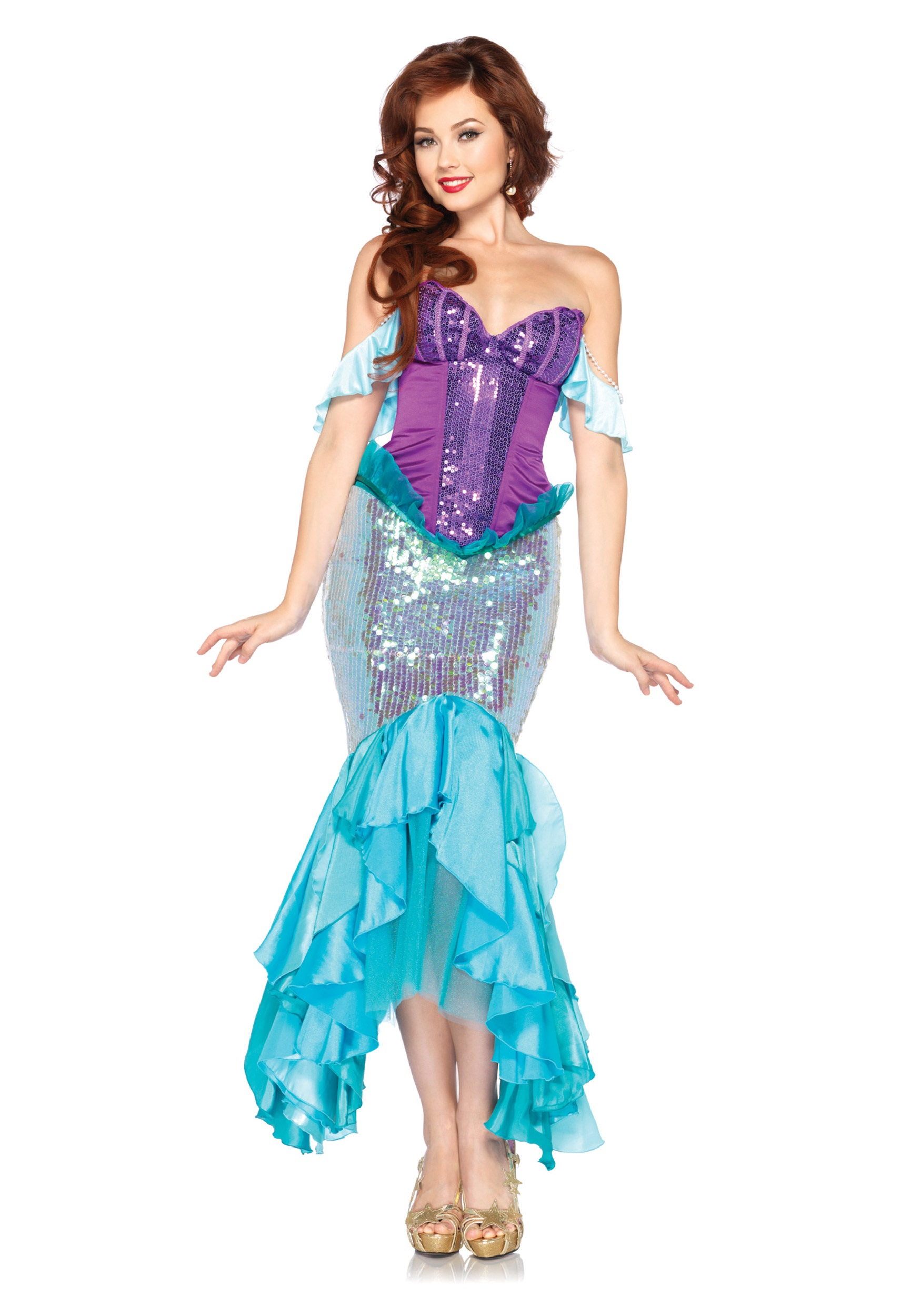 fascinating Princess Ariel Costume For Adults Part - 1: Womens Disney Deluxe Ariel Costume