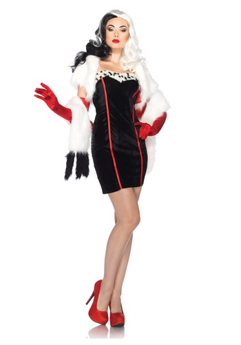 Click Here to buy Womens Disney Cruella Costume from HalloweenCostumes, CDN Funds