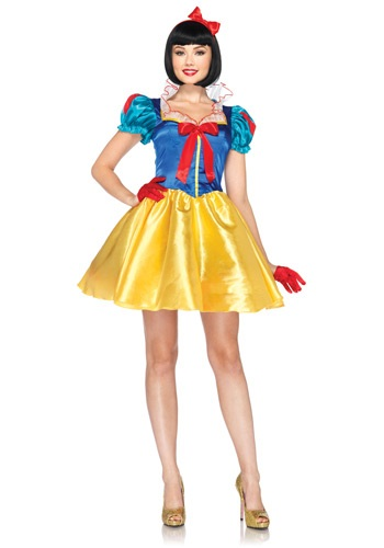 Click Here to buy Womens Disney Classic Snow White Costume from HalloweenCostumes, USA Funds & Shipping