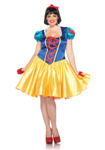 Click Here to buy Plus Classic Disney Snow White Costume from HalloweenCostumes, USA Funds & Shipping