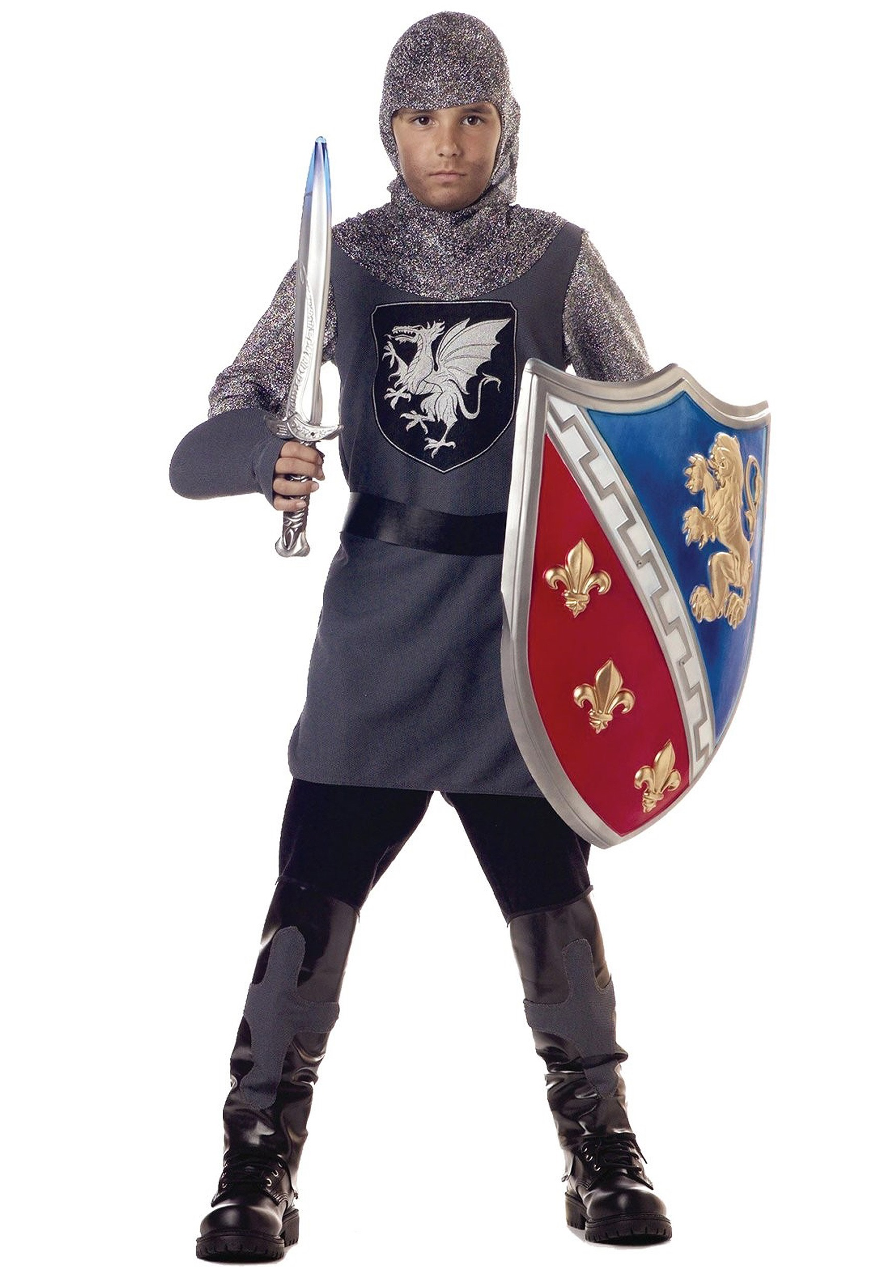 Kidu0027s Valiant Knight Costume  sc 1 st  Halloween Costumes : medieval costumes for children  - Germanpascual.Com