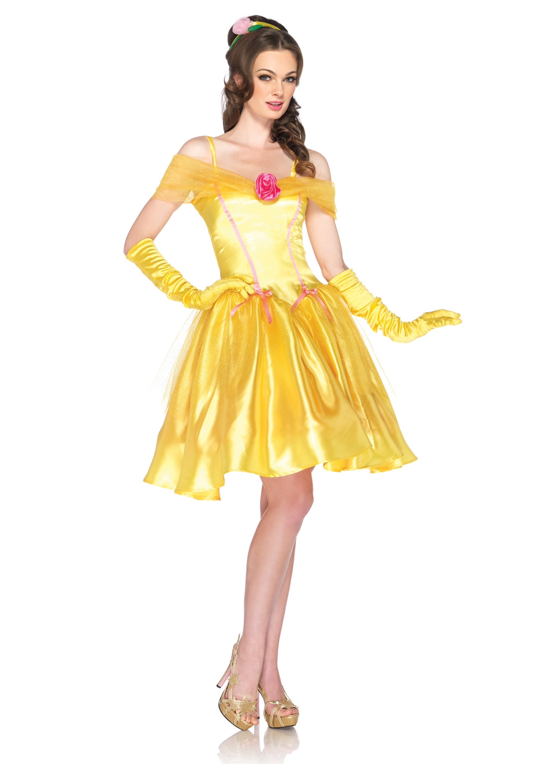 Womens Disney Princess Belle Costume  sc 1 st  Halloween Costumes & Womenu0027s Disney Princess Belle Costume