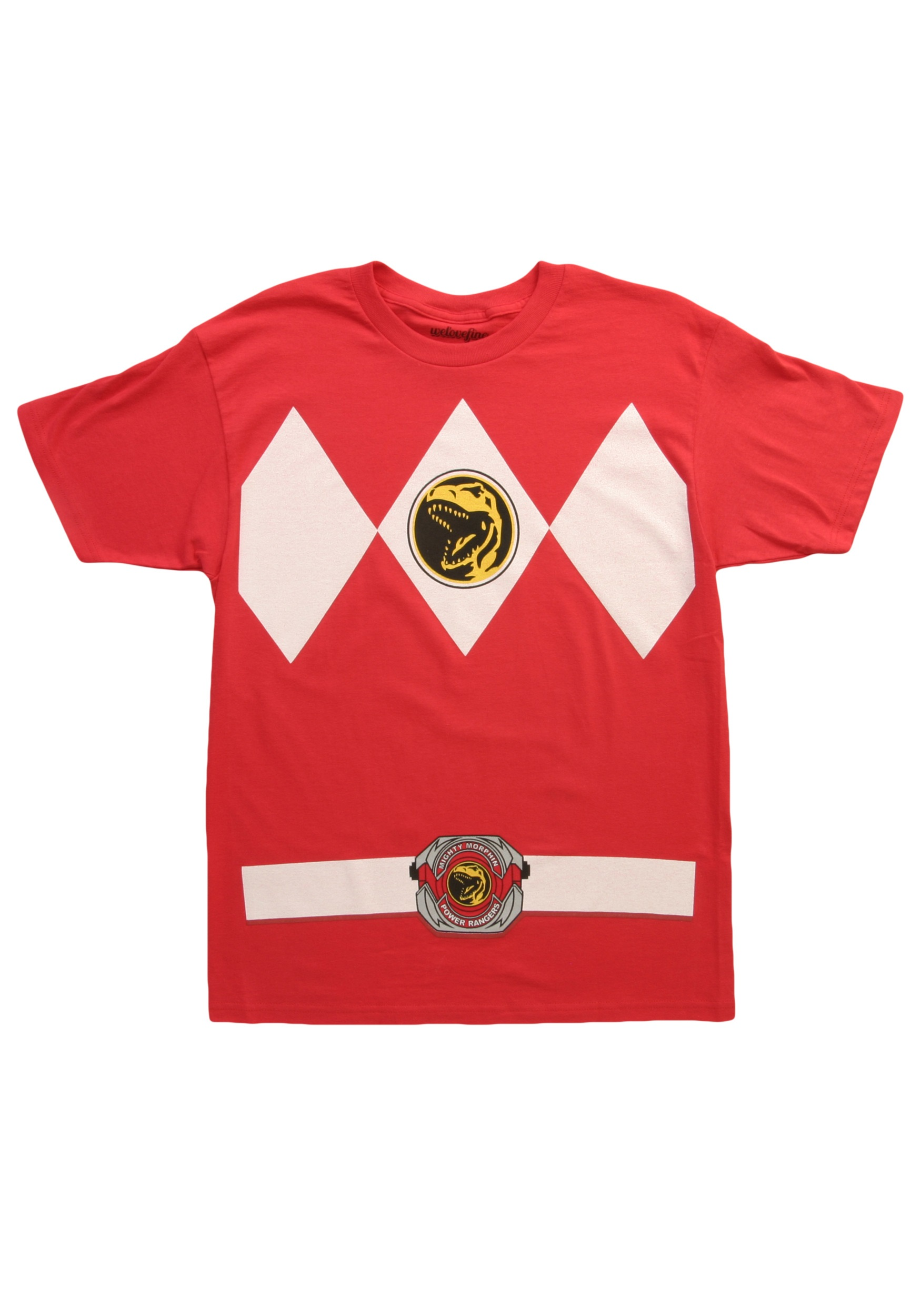 Red power ranger costume t shirt for Costume t shirts online