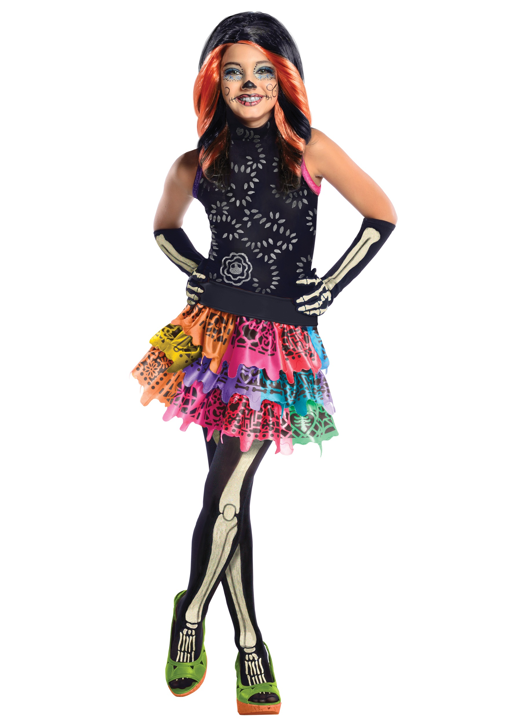 Monster High Skelita Calaveras Child Costume  sc 1 st  Halloween Costumes & Monster High Costumes u0026 Accesories - HalloweenCostumes.com