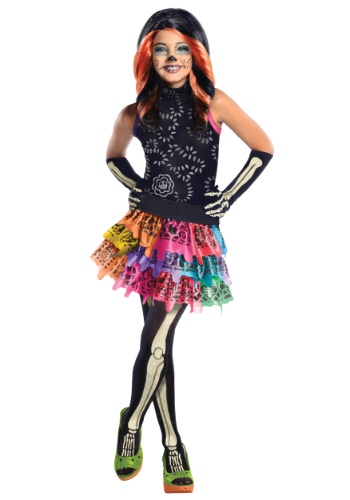 Click Here to buy Monster High Skelita Calaveras Kids Costume from HalloweenCostumes, CDN Funds