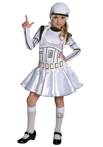 Click Here to buy Storm Trooper Girls Dress Costume from HalloweenCostumes, CDN Funds