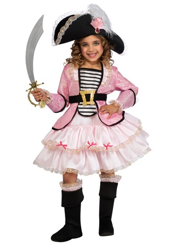 Click Here to buy Girls Pirate Princess Costume from HalloweenCostumes, USA Funds & Shipping
