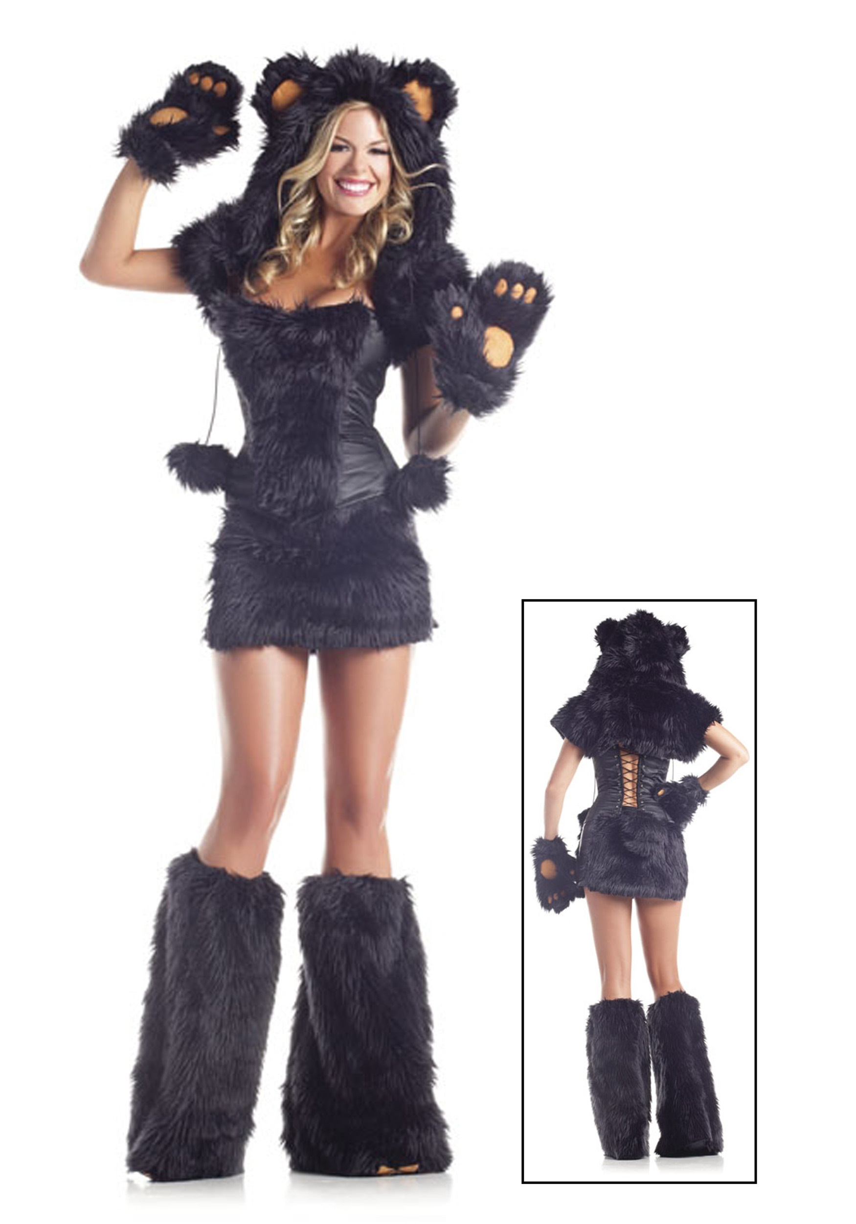 Sexy Deluxe Black Bear Costume For Women-6808