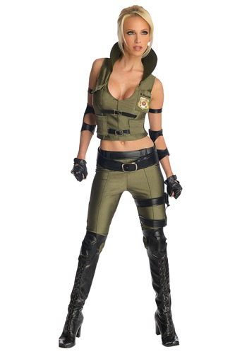 Click Here to buy Mortal Kombat Deluxe Sonya Blade Costume from HalloweenCostumes, CDN Funds