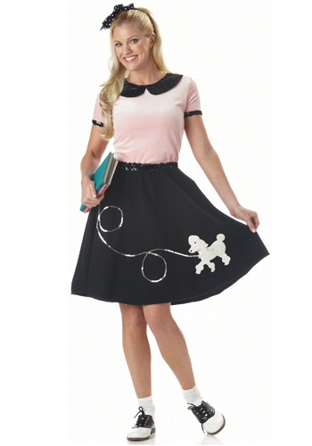 Click Here to buy Adult Sock Hop Costume from HalloweenCostumes, USA Funds & Shipping