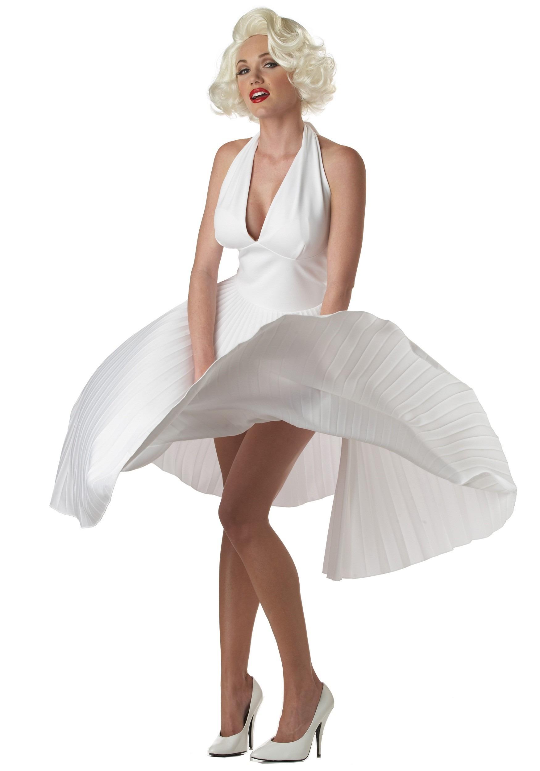 Marilyn Monroe Deluxe White Dress