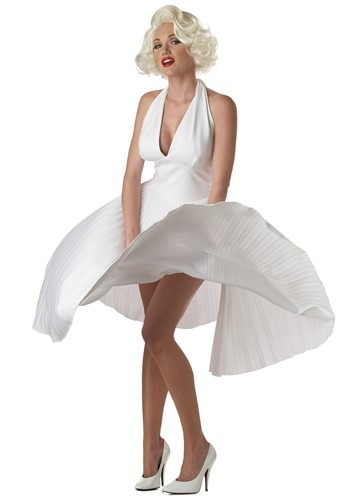 Click Here to buy Marilyn Monroe Deluxe White Dress Costume from HalloweenCostumes, CDN Funds
