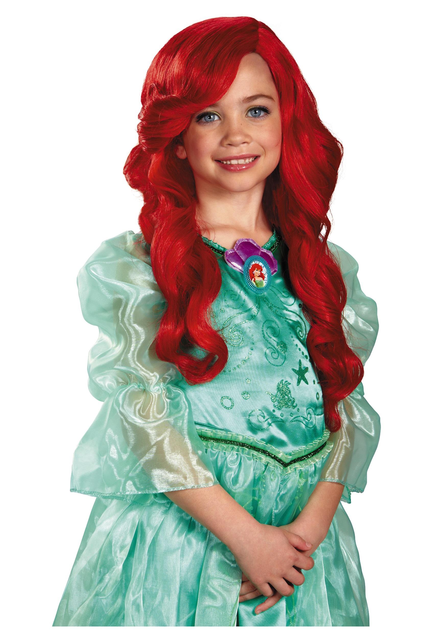 Ariel Wig Costume Wig Ponytail
