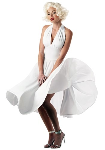 Click Here to buy Marilyn Monroe Costume Dress from HalloweenCostumes, USA Funds & Shipping